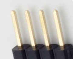4 pin single row male photo and diagram