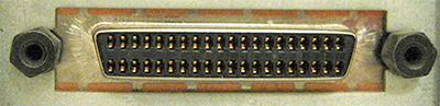 40 pin hi-density D-SUB female photo and diagram
