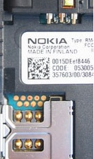 9 pin Nokia 7600 cell phone proprietary photo and diagram