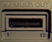 12 pin Sony Playstation proprietary photo and diagram