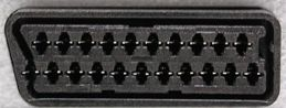 21 pin SCART female photo and diagram