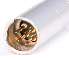 6 pin XLR male photo and diagram